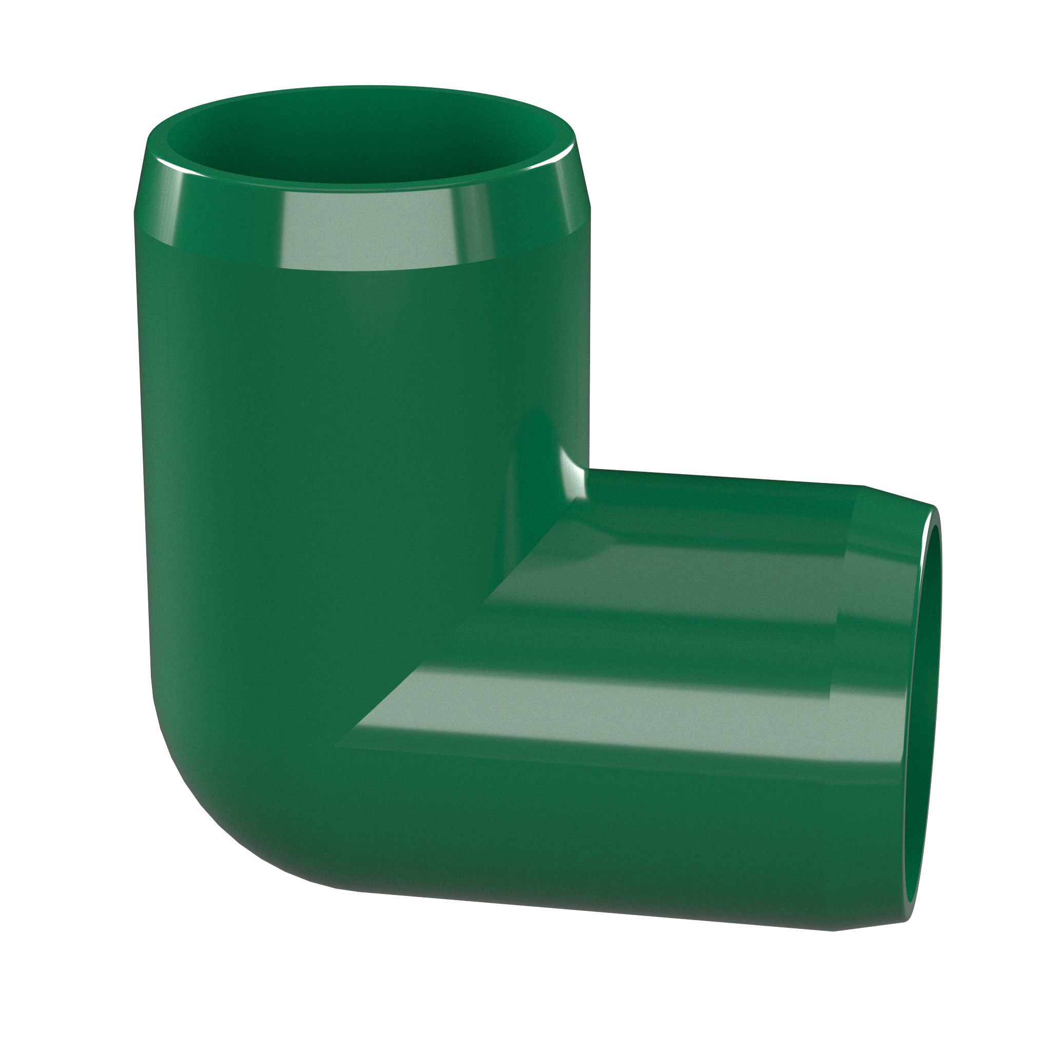 Furniture Grade FORMUFIT F01290E-GR-10 90 Degree Elbow PVC Fitting Pack of 10 1//2 Size Green