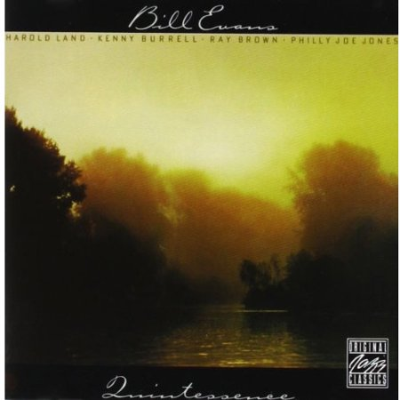 Personnel  Bill Evans  Piano   Harold Land  Tenor Saxophone   Kenny Burrell  Guitar   Ray Brown  Bass   Philly Joe Jones  Drums  Recorded At Fantasy Studios  Berkeley  California In May 1976 Digital Remastering By Phil De Lancie  1991  Fantasy Studios  Berkeley  California  Jazz Piano Legend Bill Evans Name Is Almost Unthinkable Without The Word  Trio  Coming To Mind   But He Did Record A Few  Very Few  Albums In A Group Context   This Session Was Recorded In May 1976  With Longtime Friend Musical Associate Philly Joe Jones  And Some New To Evans Players  Bass Master Ray Brown  Jazz Guitar Giant Kenny Burrell And The Sublimely Restrained Bop Tenor Saxophonist Harold Land There Are No Evans Tunes Here  But The Program Is First Rate  Thad Jones Standard  A Child Is Born   A Wistful Gem   Michel Legrands  Martina   Brown Shines Here  And The Cool Cat  Think  Pink Panther   Blues Of The Burrell Original  Bass Face   Featuring A Gloriously Big Toned Solo From Land  That Magically Transports You To An After Hours Club    Evans Playing Is Slyly Swinging And Relaxed  Giving You The Impression  Almost  That This Was A Spontaneous Jam Session   If You Want To Hear A Rare Side Of Evans  Orif You Just Want To Hear Some Pros Deliver A Set Of Fine   Mellow Jazz  Quintessence Is Highly Recommended