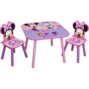 Delta Children Minnie Mouse Table & Chair Set - Playroom Furniture - Kids Room - Adds Character to Any Room - Room Décor