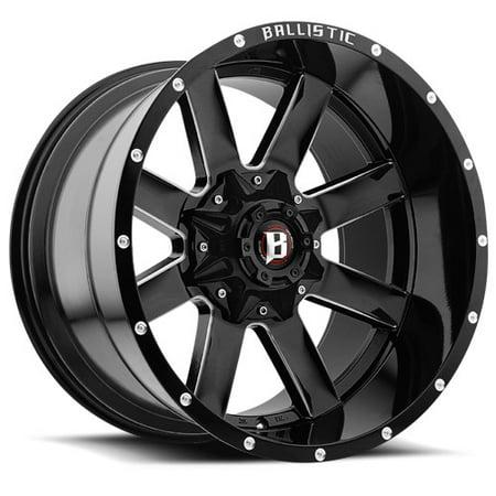 Ballistic Rage Wheel Rim 20x10 Gloss Black 8x170 & 8x180 -19mm '