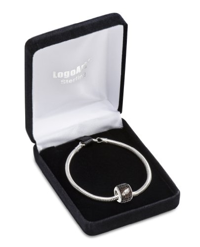"Philadelphia Eagles Sterling silver Premier Bead charm on 8"" bracelet"