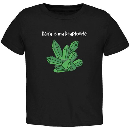 Dairy is My Kryptonite Black Toddler T-Shirt