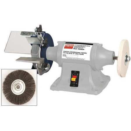 Dayton Bench Grinder Buffer 6 Wheel Dia 16w005