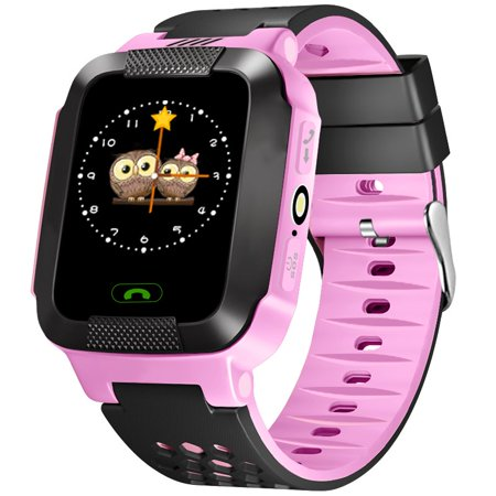 Kids GPS Smart Watch Q528 with Lighting Touch Smartwatch phone with SIM card Location SOS Call Anti Lost Baby Wrist (Location Set)
