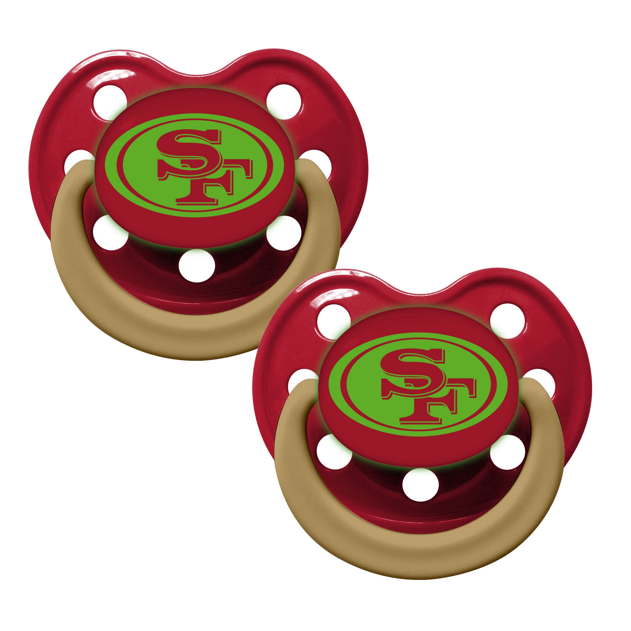 NFL San Francisco 49ers Glow in the Dark 2-Pack Pacifiers
