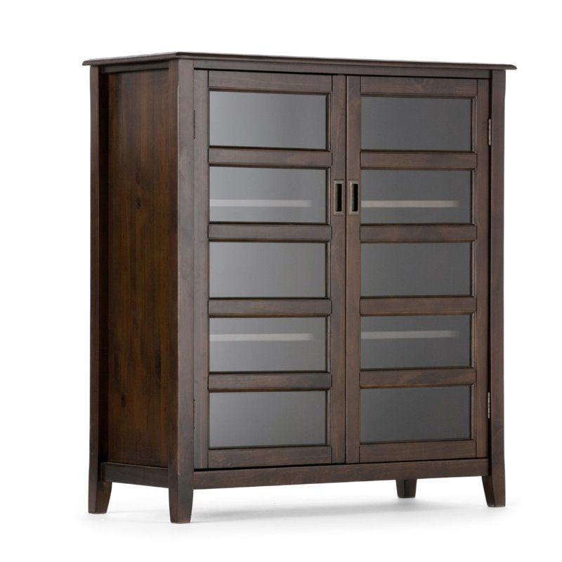Atlin Designs Storage Cabinet in Dark Espresso Brown