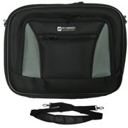 Lenovo ThinkPad T430 Laptop Case Carry Handle & Adjustable Shoulder Strap - Black/Gray - Adjustable & Removable Interior Dividers