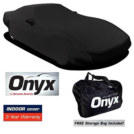 C4 CORVETTE HIGH END ONYX BLACK SATIN CUSTOM FIT STRETCH INDOOR CAR COVER FITS: All C4 84-96 CORVETTES