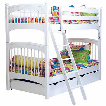 bolton furniture windsor twin bunk bed with 2 underbed storage drawers white. Black Bedroom Furniture Sets. Home Design Ideas