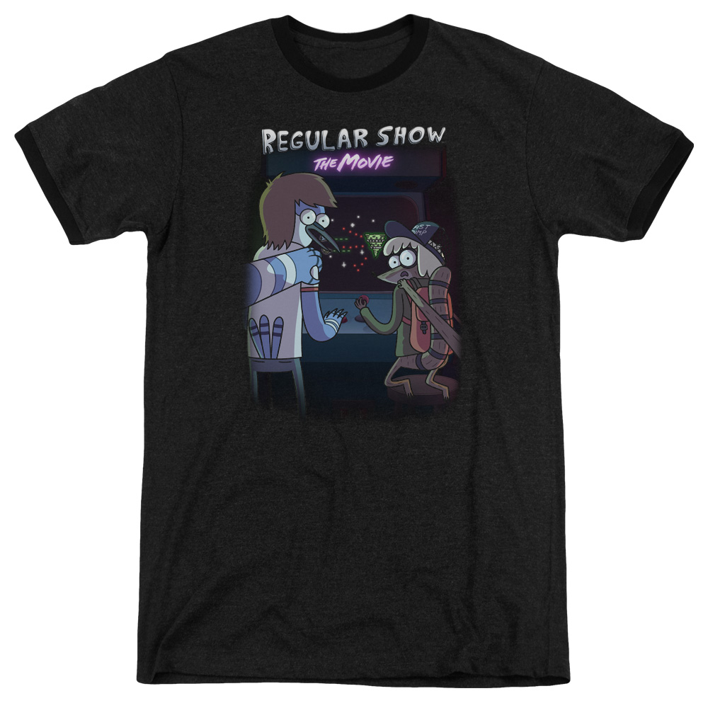 Trevco REGULAR SHOW RS THE MOVIE Black Adult Unisex T-Shirt