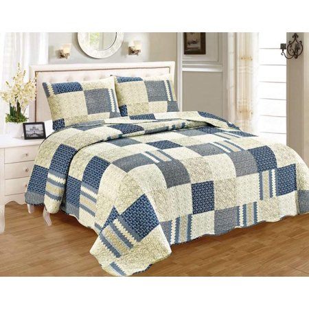 Marcielo 3 Piece 100 Cotton Quilt Set Cotton Bedspread Floral