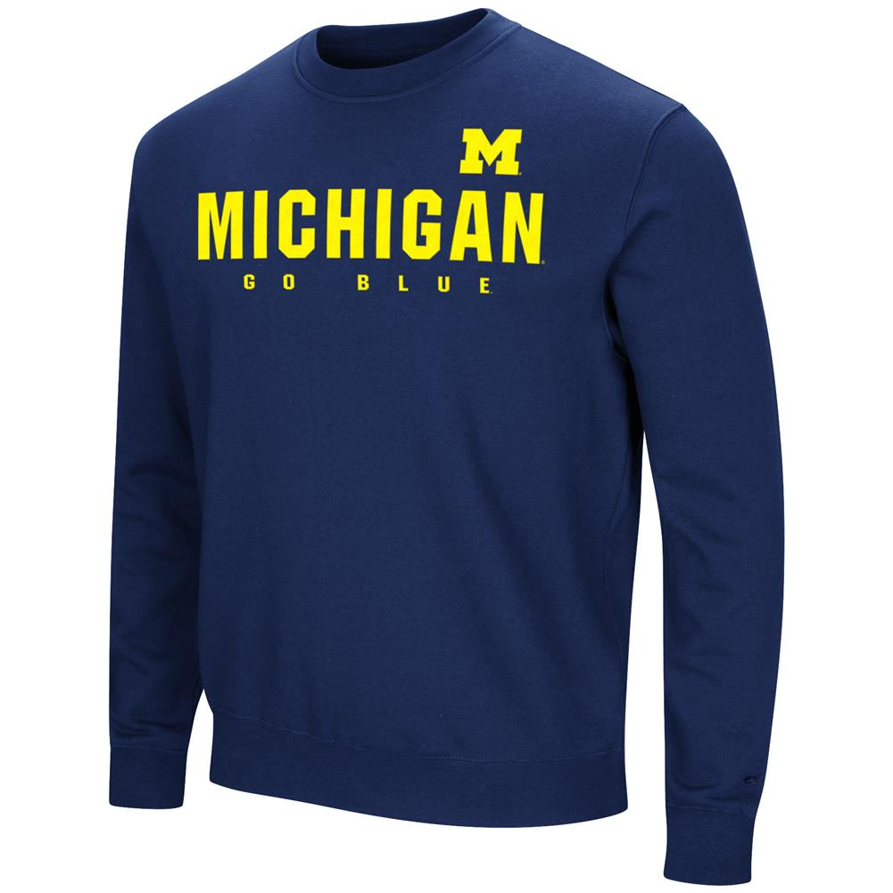 University of Michigan Wolverines Sweatshirt Playbook Crew Neck Fleece