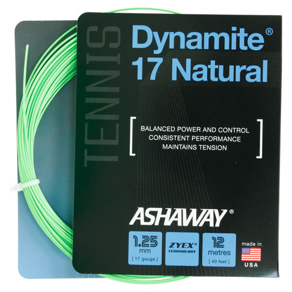 Dynamite 17 Natural Tennis String Optic Green