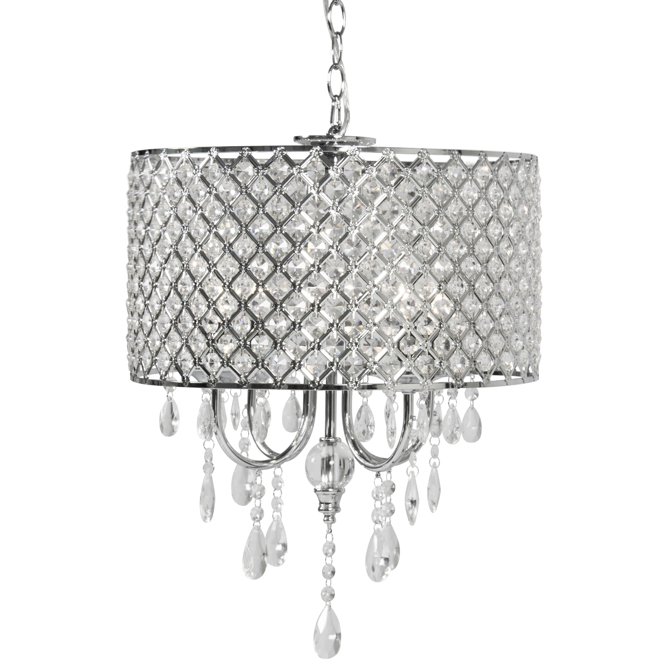 BCP Crystal Chandelier Lighting Pendant Glass Ceiling Lamp Center Light by