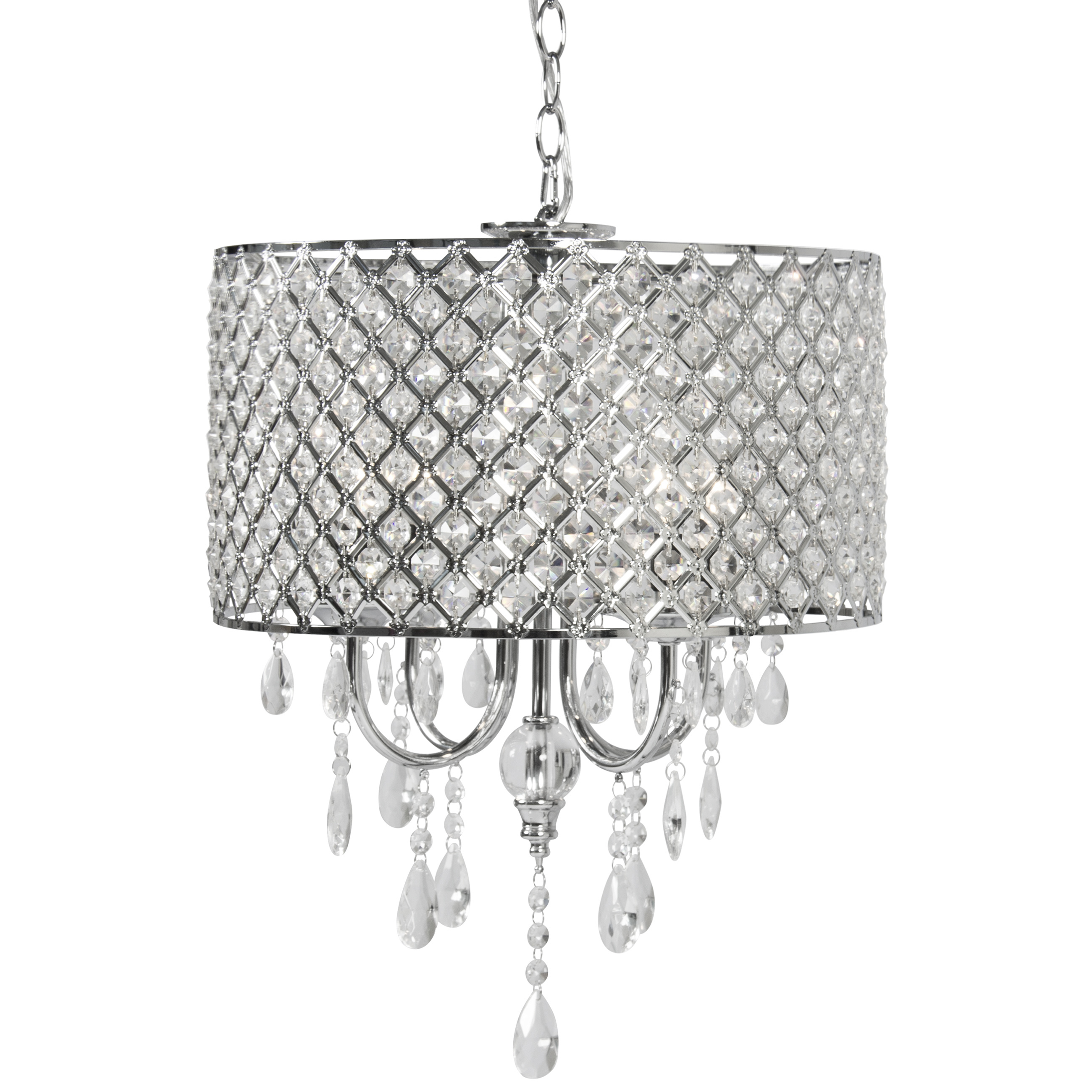 Best Choice Products BCP Crystal Chandelier Lighting Pendant Glass Ceiling Lamp Center Light