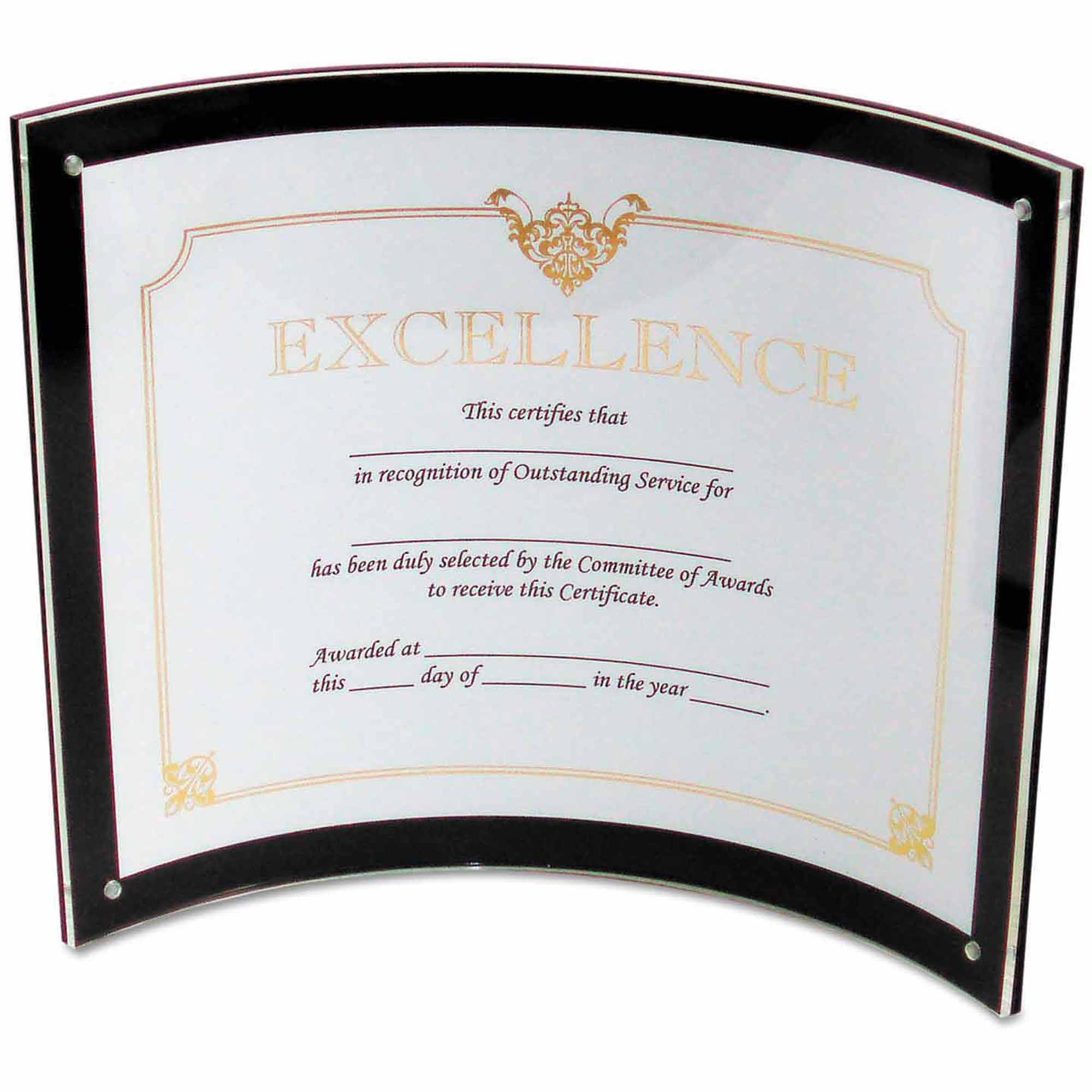 "deflect-o Superior Image Magnetic Certificate Holder, Plastic, 8-1/2"" x 11"", Black/Clear"