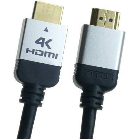 6' Hdmi Hd Cable - NTW 6' - 12' Ultra HD PURE PLUS 4K High Speed HDMI Cable with Ethernet Offers 4X the Clarity of 1080p Full HD with Rapid 18Gbps Transfer Speeds and 100 Percent Triple Layer Shielding