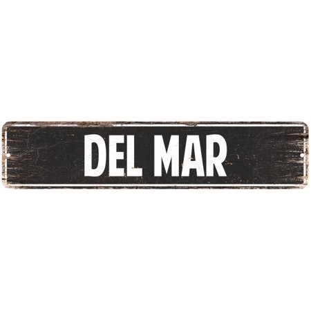 Del Mar Vintage Look Personalized Metal Sign Chic 4x18 104180008020