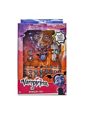 Vampirina Jewelry Set with Charm Bracelet Rings and Sticker Earrings - 40 Pieces