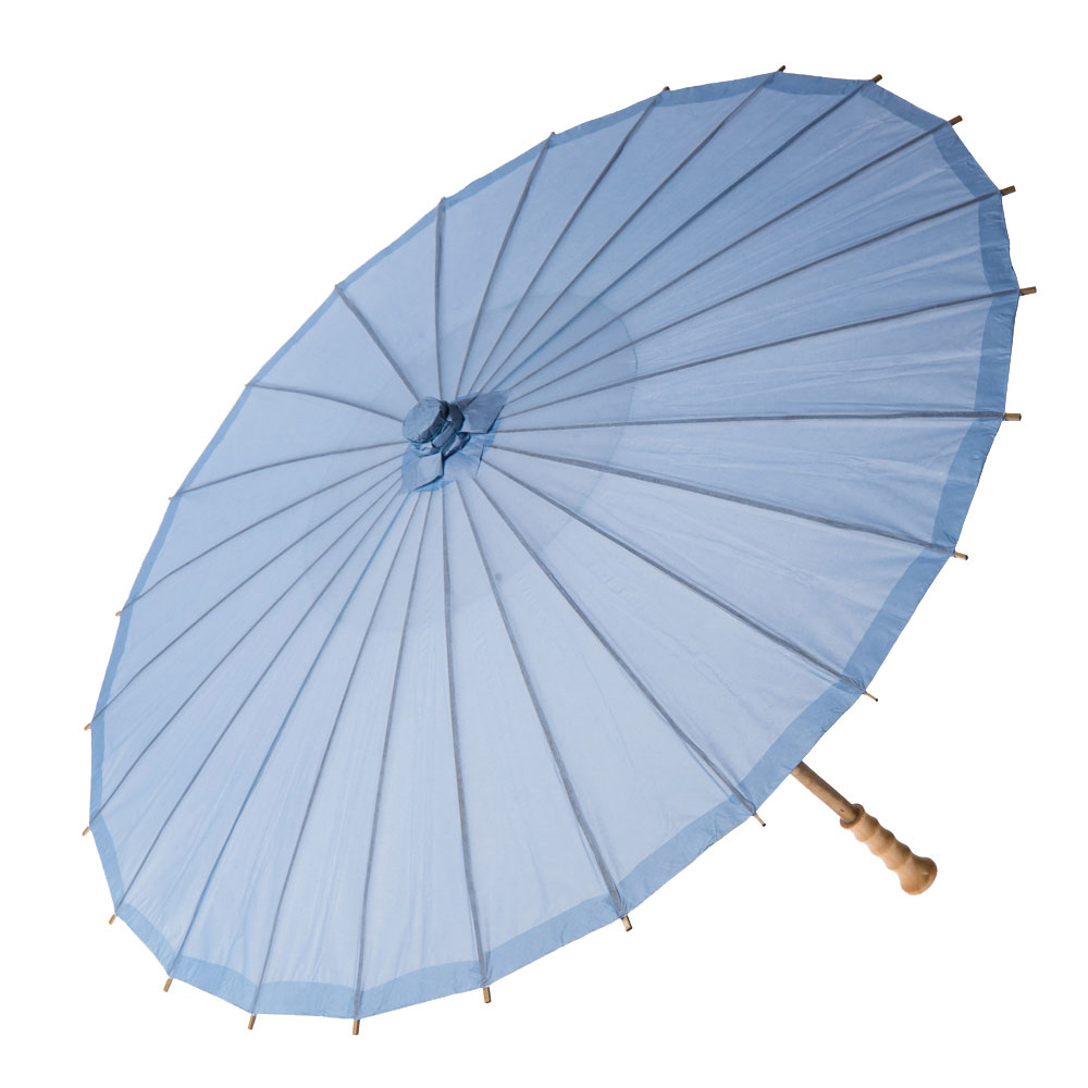 Paper Parasol 32 Inch Periwinkle Blue Chinese Japanese Paper