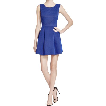 Lucy Paris Womens Brocade Textured Party Dress Blue - Peanuts Lucy Dress