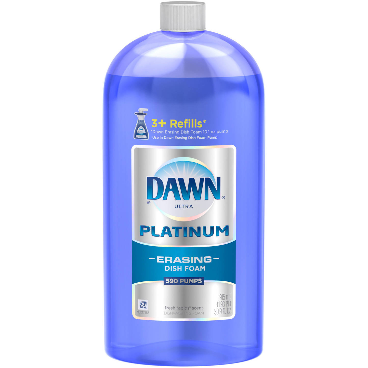 Dawn Platinum Erasing Dishwashing Foam Refill Fresh Rapids Scent 30.9 Fl Oz