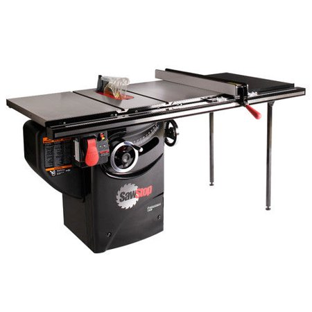 SawStop PCS175-TGP236 110V Single Phase 1.75 HP 14 Amp 10 in. Professional Cabinet Saw with 36 in. Professional Series T-Glide Fence System