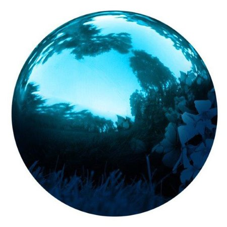 Gazing Mirror Ball - Stainless Steel - By Trademark Innovations (Blue, (Gazing Balls Gardens)