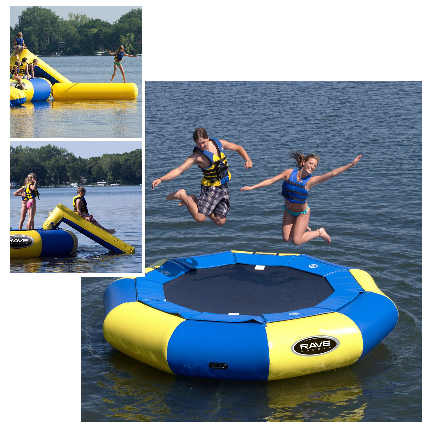 Click here to buy 12 ft. RAVE Sports Aqua Jump Eclipse Water Trampoline Package by Rave Sports.