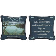 Manual Woodworkers & Weavers Advice from the Lake Throw Pillow