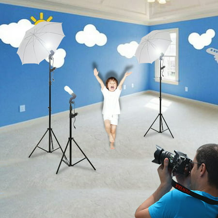 - Photo Studio Video Photography Lighting Kit Portrait Day Light  Umbrellas  Continuous Lighting Kit