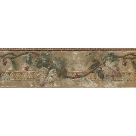 Floral Cherry Blossom Flowers Wallpaper Border for Kitchen Bathroom Living Room, Roll 15' x7'' - image 1 of 3
