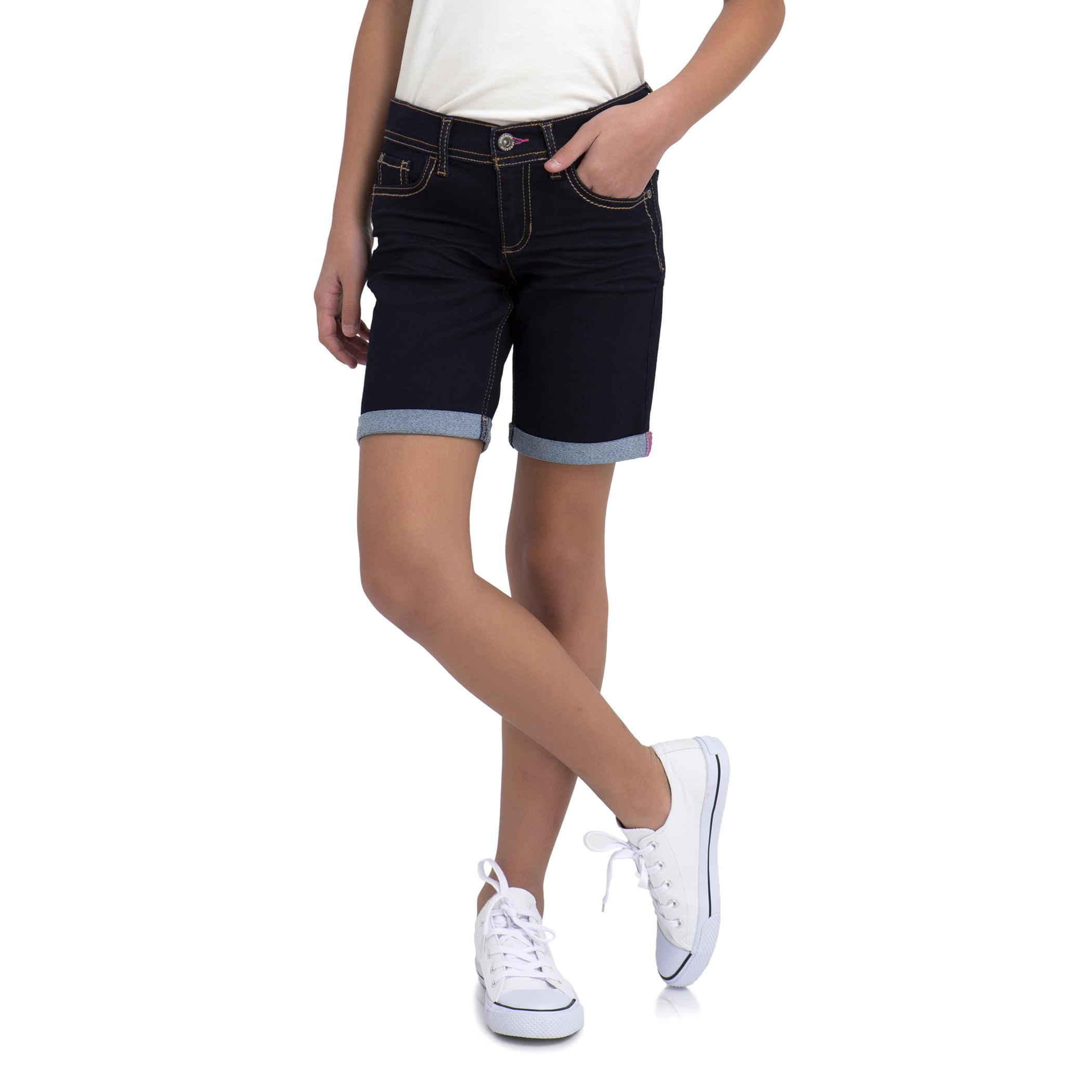 Jordache Girls' Rolled Cuff Bermuda Denim Short