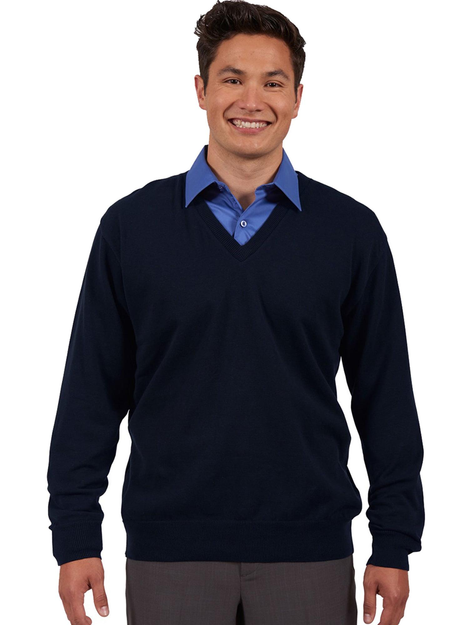 Edwards Garment Men's Fine Gauge V Neck Sweater