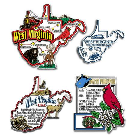 Four-Piece State Magnet Set - West Virginia
