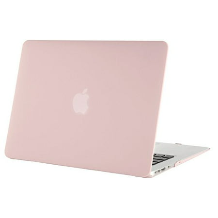 Mosiso Laptop Protective Cover Case for MacBook Air 13'' No Touch ID (Models: A1369 and A1466 2010-2017),Rose quartz ()