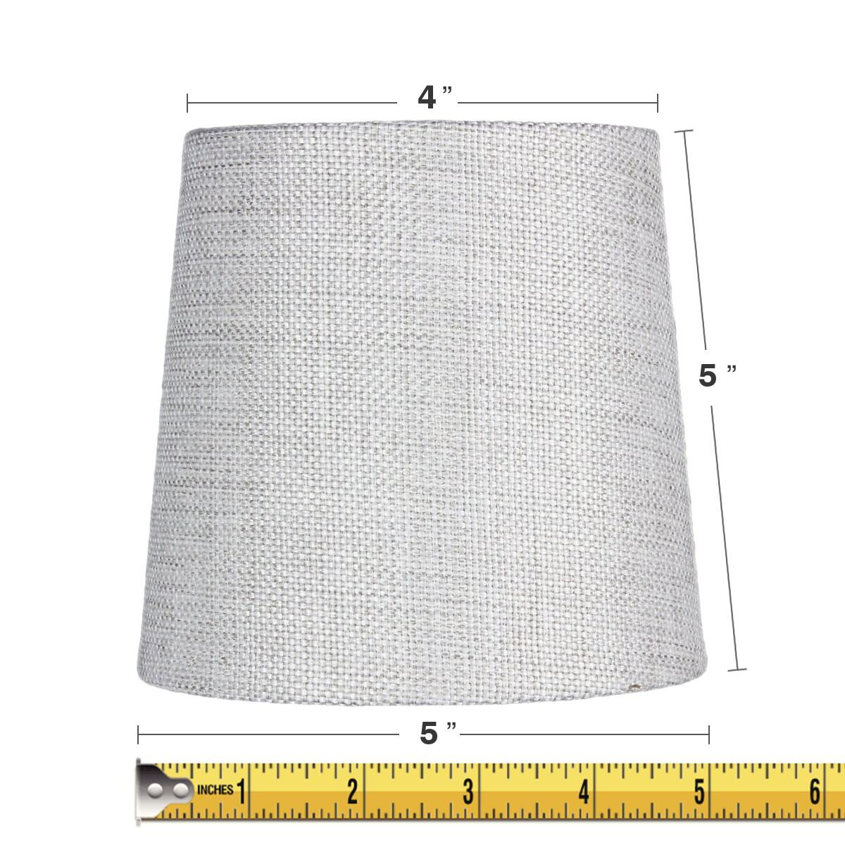 5x6x5 Khaki Burlap Drum Chandelier Clip-On Lampshade by Home Concept