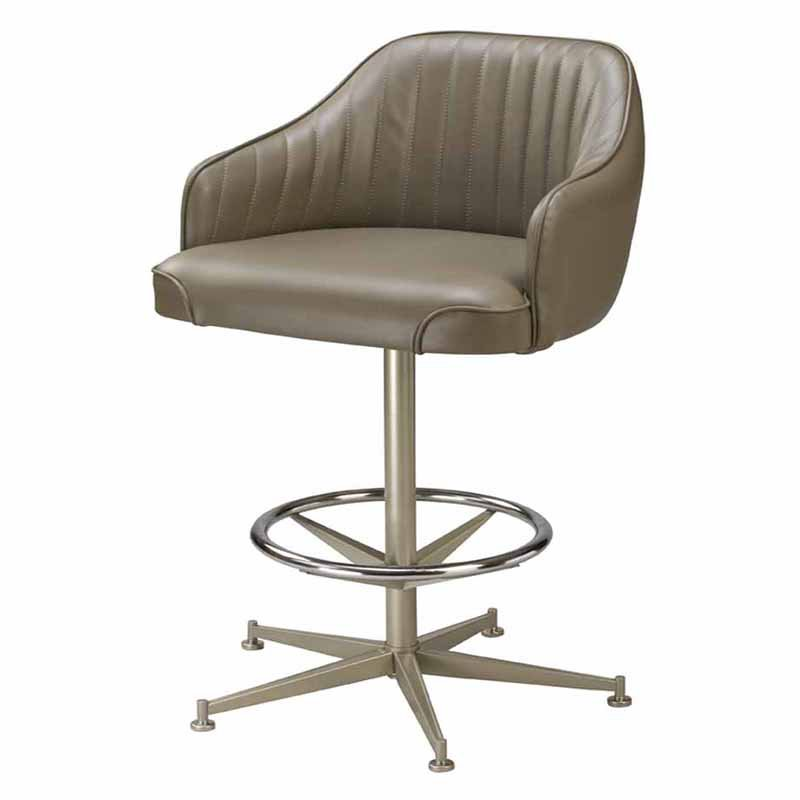 Regal Bucket Seat with Arms 30 in. Rod Frame Metal Bar Stool