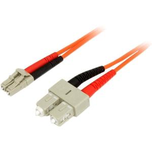 StarTech.com 3m Fiber Optic Cable - Multimode Duplex 62.5/125 - LSZH - LC/SC - OM1 - LC to SC Fiber Patch Cable - LC Male - SC Male - 9.84ft - Orange DUPLEX PATCH CABLE MULTIMODE