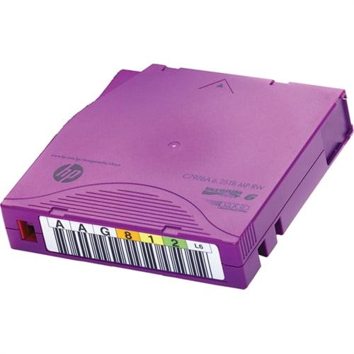HP LTO-6 Ultrium 6.25 TB BaFe RW Non Custom Labeled Data Cartridge 20 Pack C7976BN