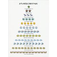 Allport Editions Florida 12 Days of Christmas Card