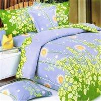 Dandelion Dream - 100 Percent Cotton  3 Pieces Mini Duvet Cover Set  King Size - Blue