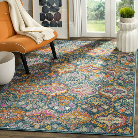 Safavieh Madison Britton Geometric Floral Area Rug or Runner (Geometric Floral Rug)