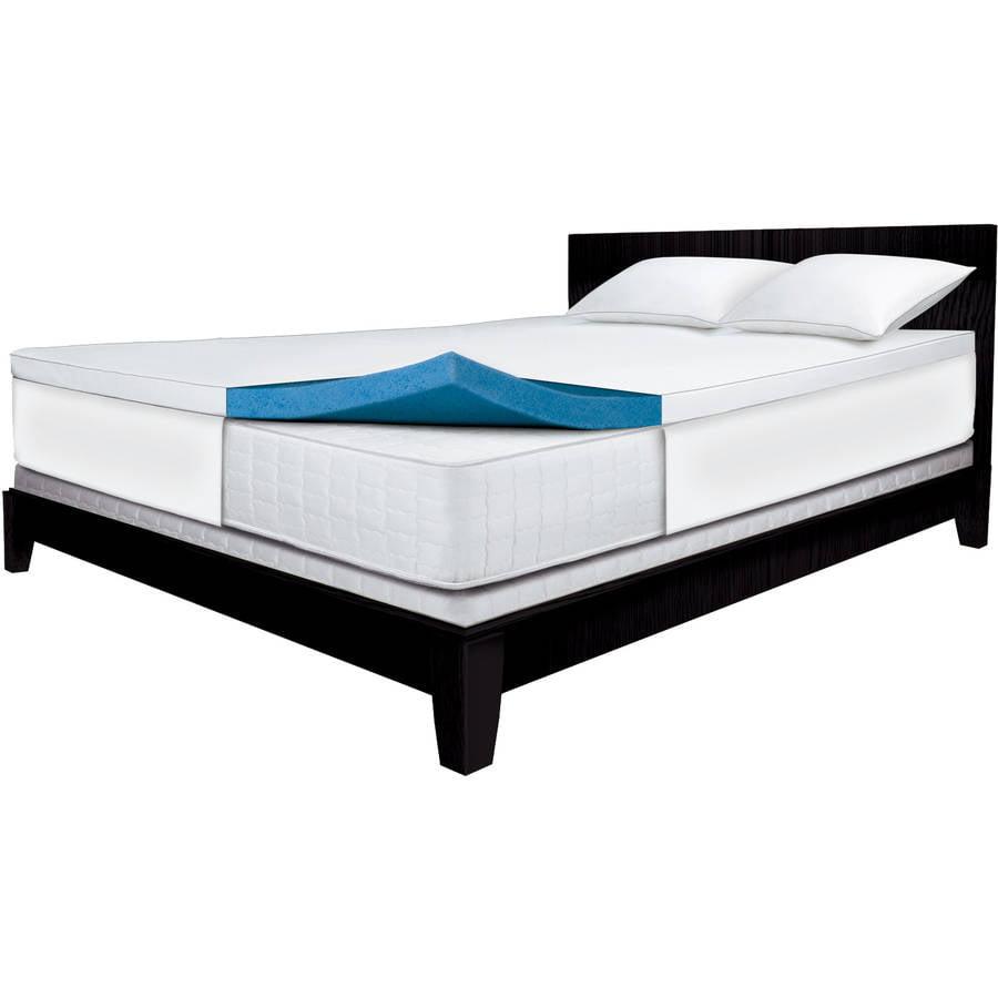 "Sleep Innovations 2"" Gel Memory Foam Mattress Topper"