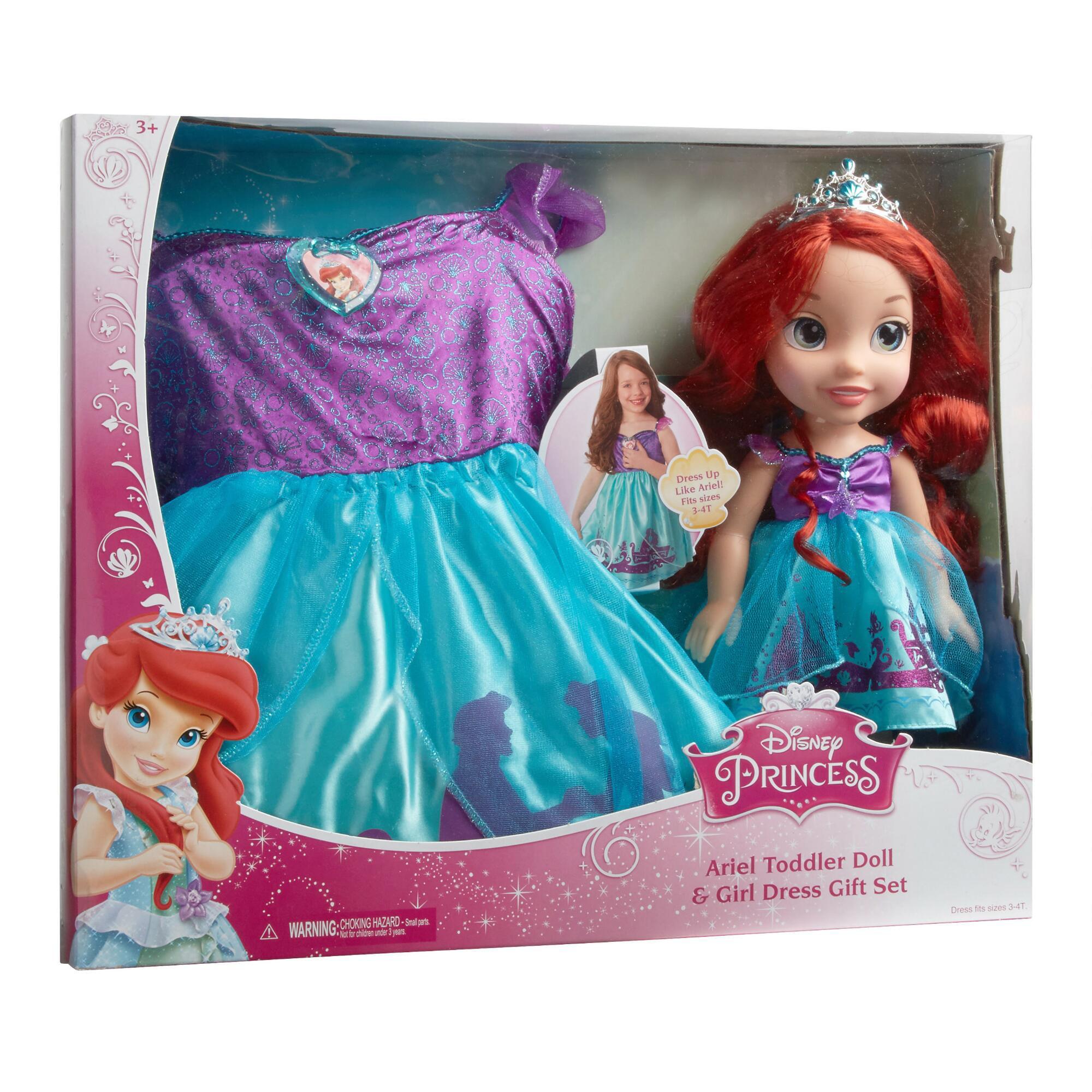 Disney Princess - Ariel Toddler Doll with Matching Child\'s Dress ...