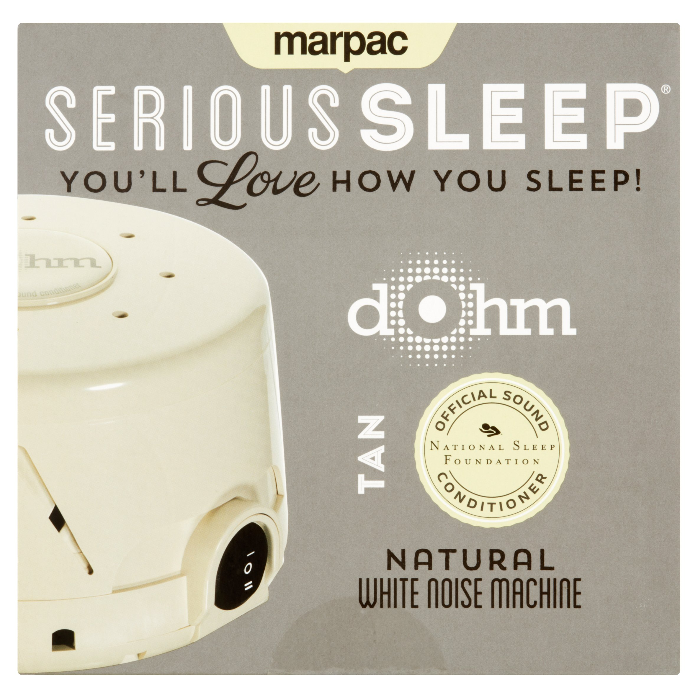 Marpac Serious Sleep Tan Natural Dohm White Noise Machine