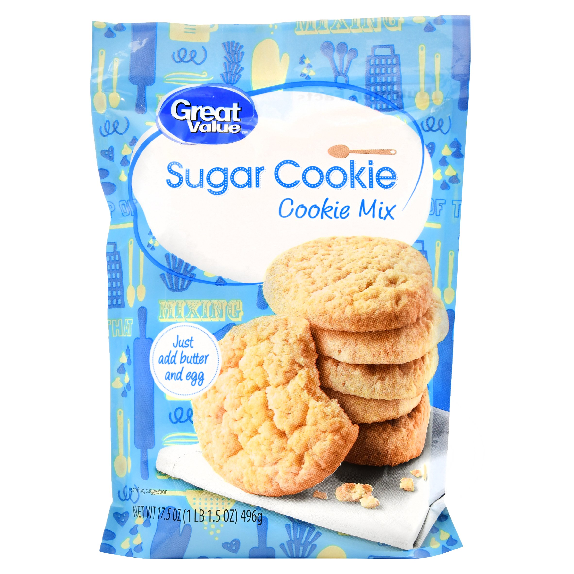 (3 Pack) Great Value Cookie Mix, Sugar Cookie, 17.5 oz
