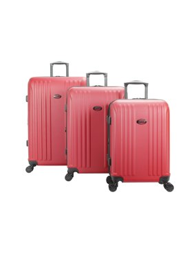 American Flyer Moraga 3-Piece Hardside Spinner Luggage Set in Red