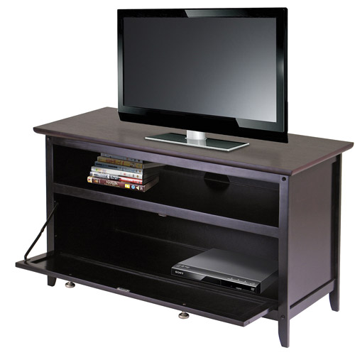 Wood Zuri Espresso TV Stand for TVs up to 42""