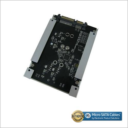 2.5 Inch SATA Motherboard to Dual Mini PCI-e MSATA SSD Raid Card